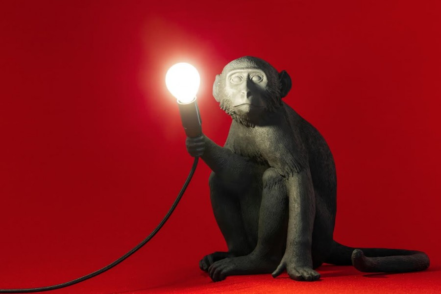 THE MONKEY LAMP BLACK VERSION DESIGNED BY MARCANTONIO