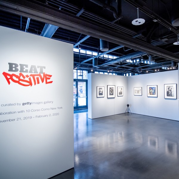 NEW YORK, NEW YORK - NOVEMBER 23: A view of the installation at BEAT Positive an Exploration of Hip Hop Culture 1981-1993: Artists Talk at 10 Corso Como on November 23, 2019 in New York City. (Photo by Roy Rochlin/Getty Images)