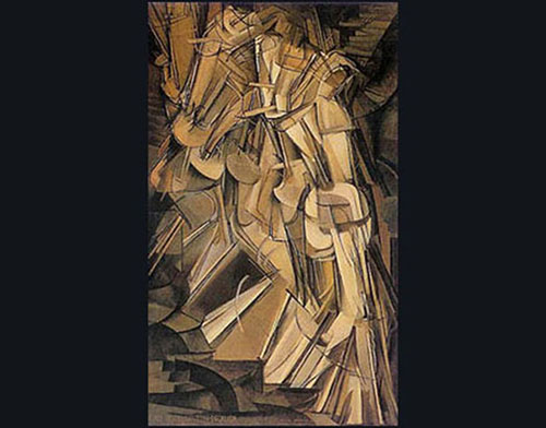 8DUCHAMP -NUDE DESCENDING A STAIRCASE , N 2 copia